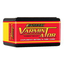 Barnes Varmin-A-Tor .243 Caliber, 6mm 72 Grain Hollow Point Flat Base Bullets box of 100