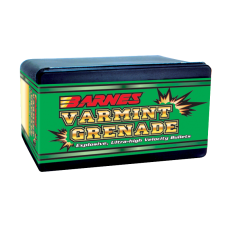 Barnes Varmint Grenade Bullets .243 Caliber, 6mm 62 Grain Hollow Point Flat Base box of 100