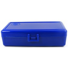 FS Reloading Plastic Ammo Box Automatic Pistol 50 Round Solid Blue