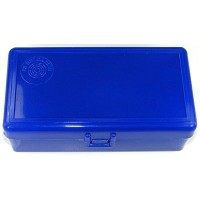FS Reloading Plastic Ammo Box Large Pistol 50 Round Solid Blue