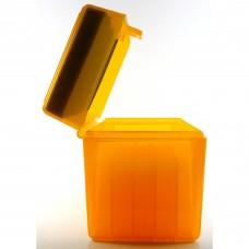 FS Reloading Plastic Ammo Box Large Rifle 50 Round Translucent Amber