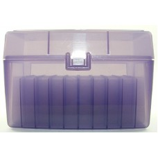 FS Reloading Plastic Ammo Box Large Rifle 50 Round Translucent Purple