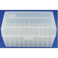 FS Reloading Plastic Ammo Box Medium Rifle 50 Round Translucent Clear