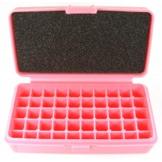 FS Reloading Plastic Ammo Box Small Pistol 50 Round Solid Pink