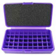 FS Reloading Plastic Ammo Box Small Pistol 50 Round Solid Purple