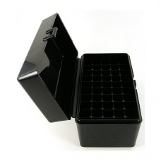 FS Reloading Plastic Ammo Box Small Rifle 50 Round Solid Black