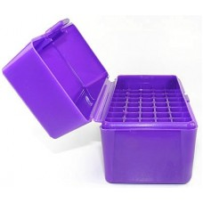 FS Reloading Plastic Ammo Box Small Rifle 50 Round Solid Purple