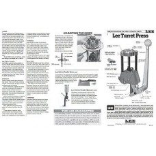Lee Precision Instructions Turret Press Prior 2018