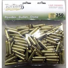 Top Brass .223 Remington Brass 250 Pieces Primed Bulk Package
