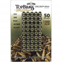 Top Brass .223 Remington Brass 50 Pieces with Plastic Tray