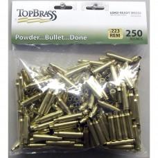 Top Brass .223 Remington Brass Unprimed 250 pieces Bulk Package