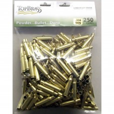 Top Brass .308 Winchester Brass 250 Pieces Bulk Package