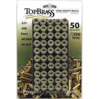 Top Brass .308 Winchester Brass Unprimed 50 Pieces with Plastic Tray