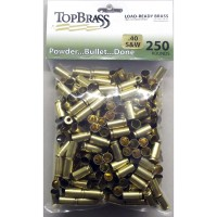 Top Brass .40 S&W Brass 250 Pieces Unprimed Bulk Package