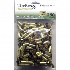 Top Brass .40 S&W Brass 250 Pieces Unprimed Bulk Package