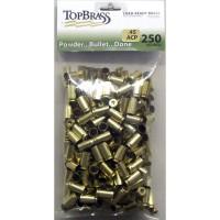 Top Brass .45 ACP Brass 250 Pieces Unprimed Bulk Package